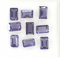6x4mm, Violet Iolite-emerald