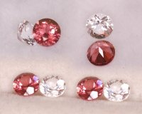 2pcs 4.00mm rd Sampler Garnet/Topaz