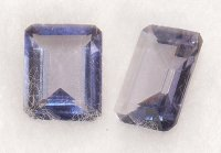 8x6mm, Violet Iolite-emerald cut