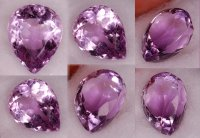 13.75x11mm, Purple Amethyst-pear