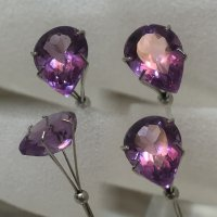 13x9.4mm, Purple Amethyst-Pear