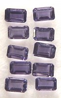 5x3mm, Blue Iolite-emerald cut