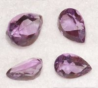 12x8mm,Med/light Purple Amethyst-pear