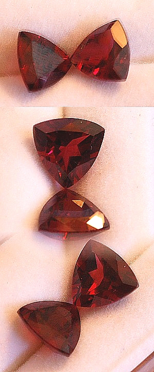 7 mm, Rose Garnet-trillion