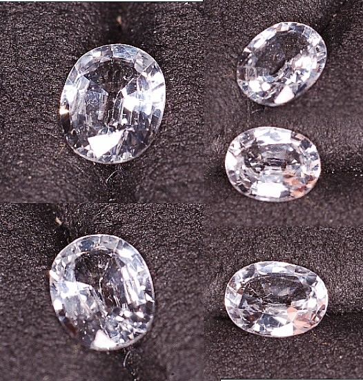6x4.75mm, White Sapphire-oval