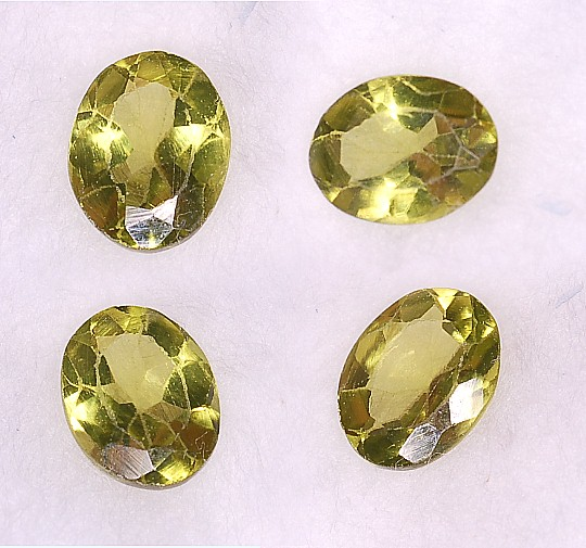 6.5x5mm, Peridot-oval