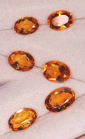 7x5mm, Gold Citrine-oval