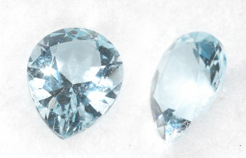 9.75x8mm,Med Blue Aquamarine-pear