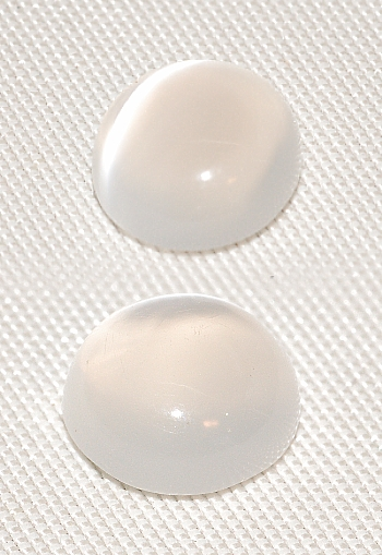 7 mm,1 pr Clear White Moonstone-round-cab