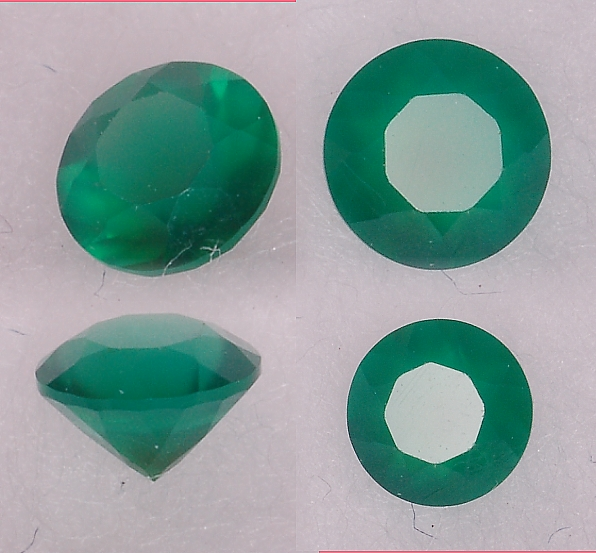 3 mm, Green Agate-round