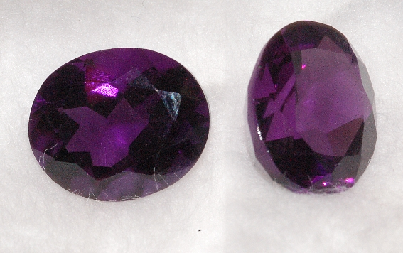 12x10mm, Purple Amethyst-Lab-Oval