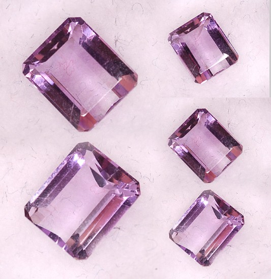 9x7mm,lite Amethyst-emerald
