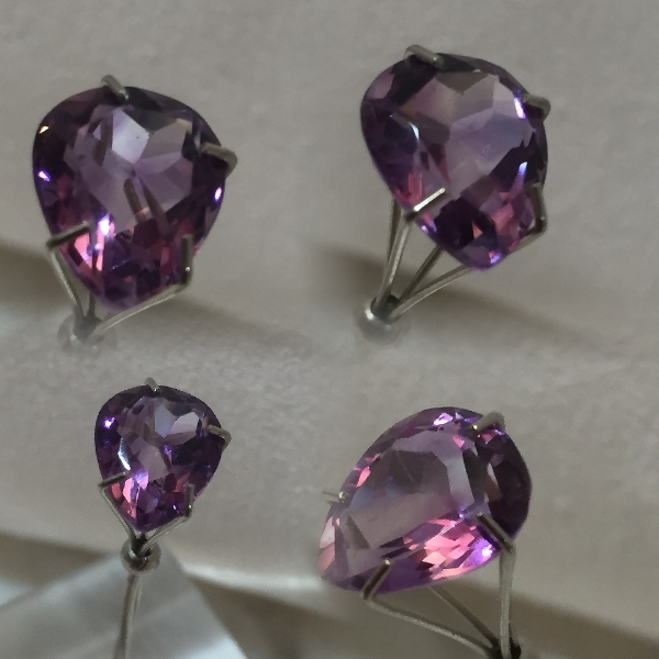 10x8.25mm,Med Purple Amethyst-pear