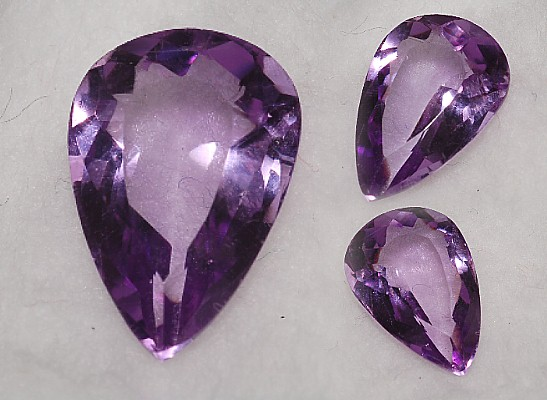 14.75x10mm,Lite/med Purple Amethyst-pear