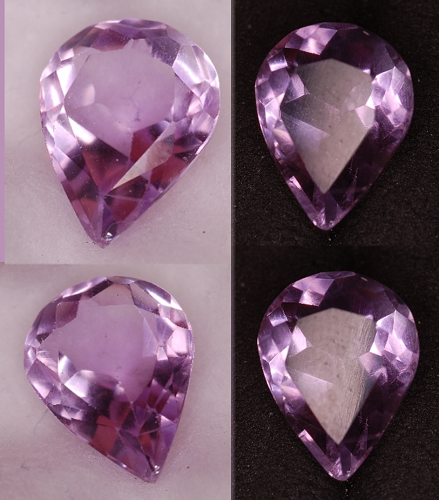 14x10.25mm, Purple Amethyst-pear