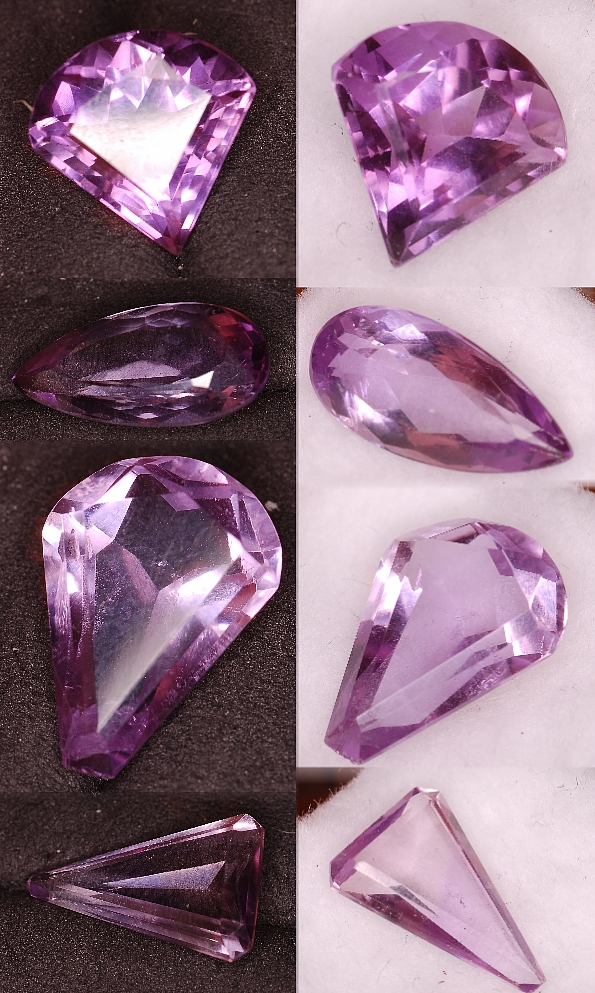 18.17 cts of Amethyst 4 pcs Parcel