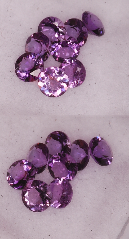 4 mm,Dark Purple Amethyst-round