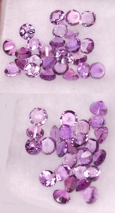 3 mm,lite Purple Amethyst-round