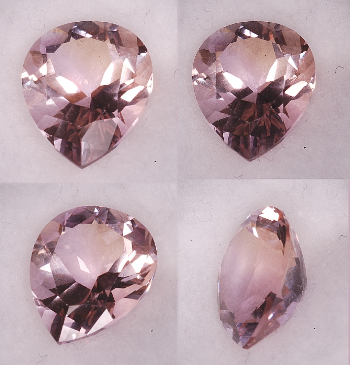 11x9mm,Pale Lavender Ametrine-Pear Shaped