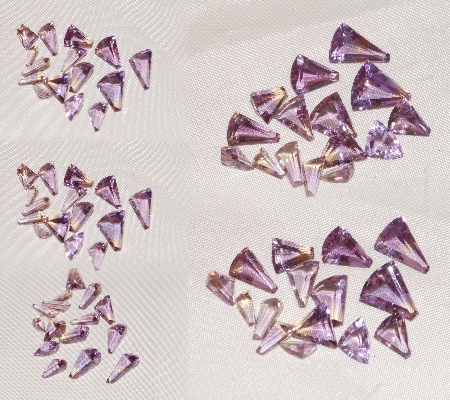 15 pcs Mixed Ametrine-Triangle Fan