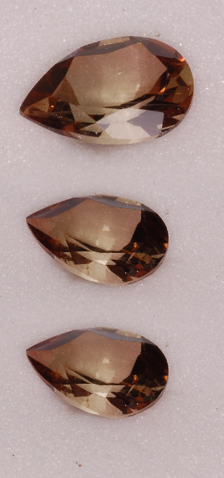 7.8x5.5mm,Dichroic Cinnamon Andalusite-pear