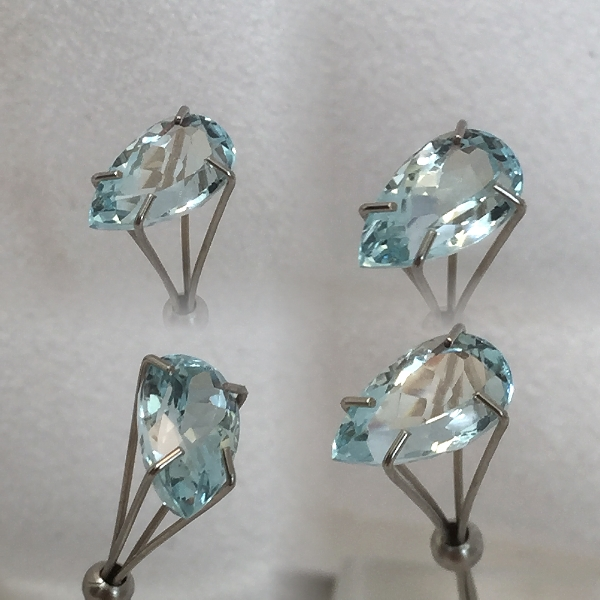 10x5.75mm,med Blue Aquamarine-pear