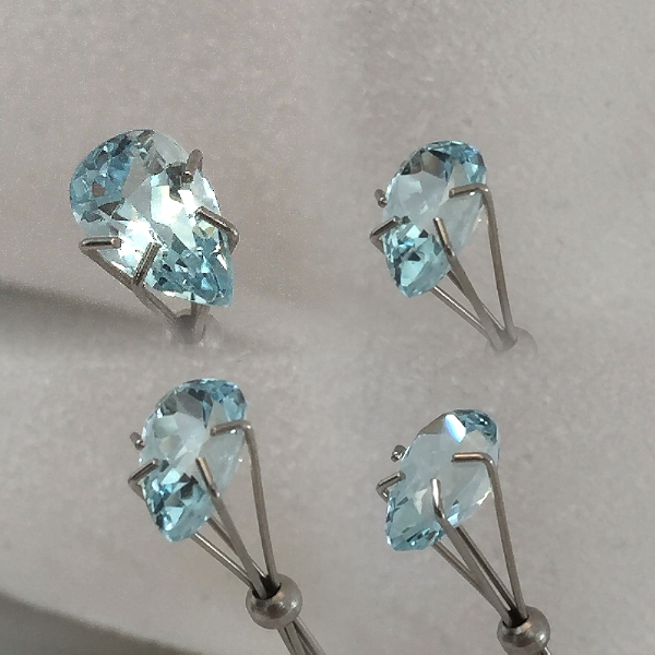 9.5x5.75mm,med Blue Aquamarine-pear