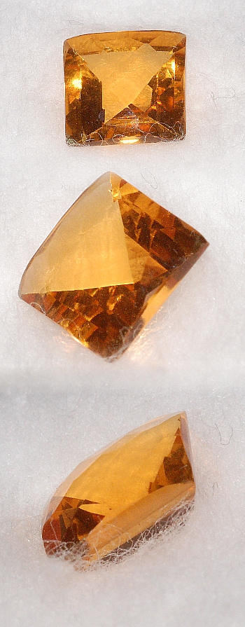 8 mm, Madeira Citrine-Lab-Cushion Checkboard