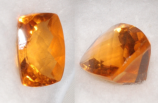13.7x11.7mm,Lite Madeira Citrine-Lab-Cushion Checkboard