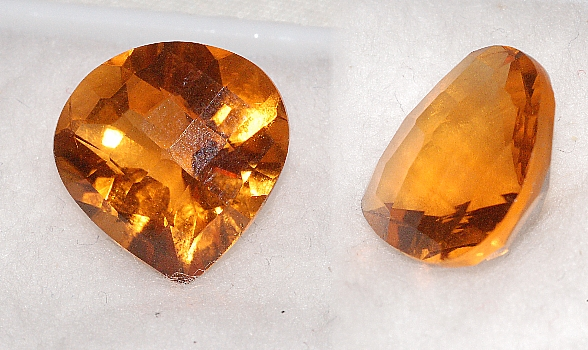 13 mm, Gold-orange Citrine-Lab-Heart (SweetHeart)