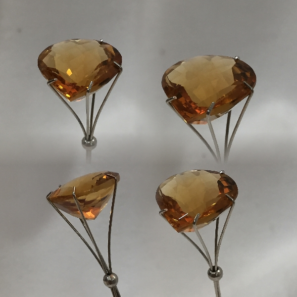 15 mm, Gold-orange Citrine-Lab-Heart (SweetHeart)