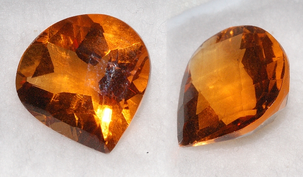 14 mm, Gold-orange Citrine-Lab-Heart (SweetHeart) Checkboard