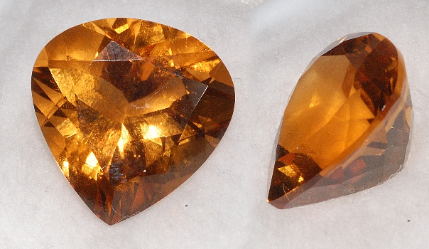 14.5 mm, Gold-orange Citrine-Lab-Heart (SweetHeart)