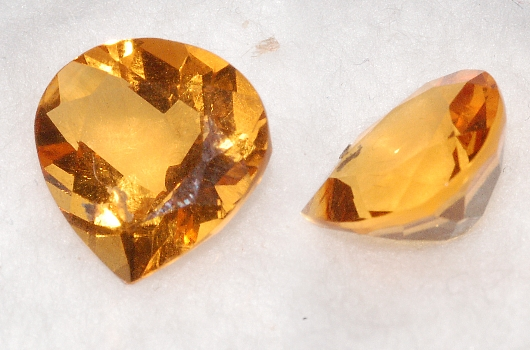 10.5 mm, Gold-orange Citrine-Lab-Heart (SweetHeart)
