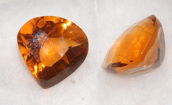 13 mm, Gold-orange Citrine-Lab-Heart (SweetHeart) Checkboard