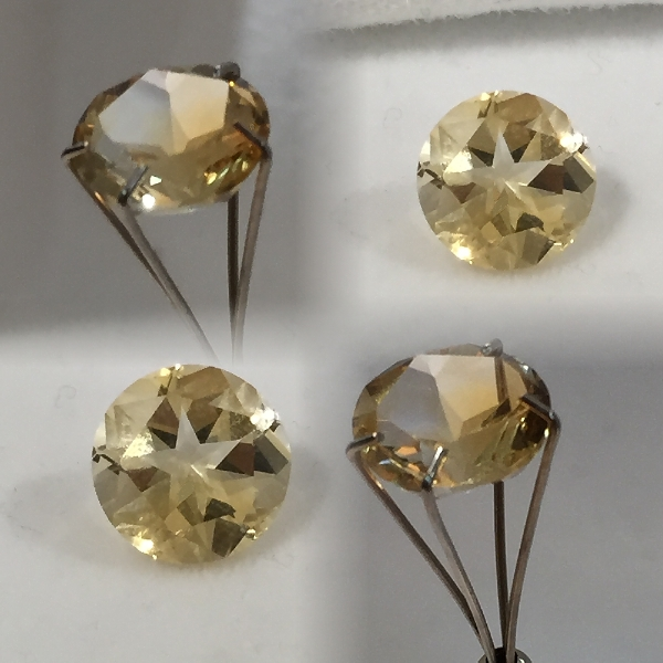 9 mm, Gold Citrine-texas star