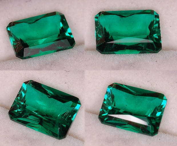8x6mm, Emerald-Lab-emerald