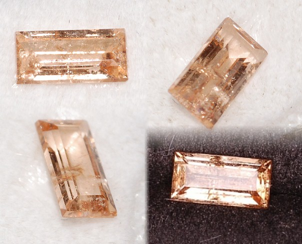 6x3mm, Peach Grossular Garnet-emerald