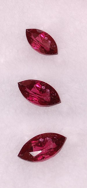 5x2.5mm, Raspberry Garnet-marquis