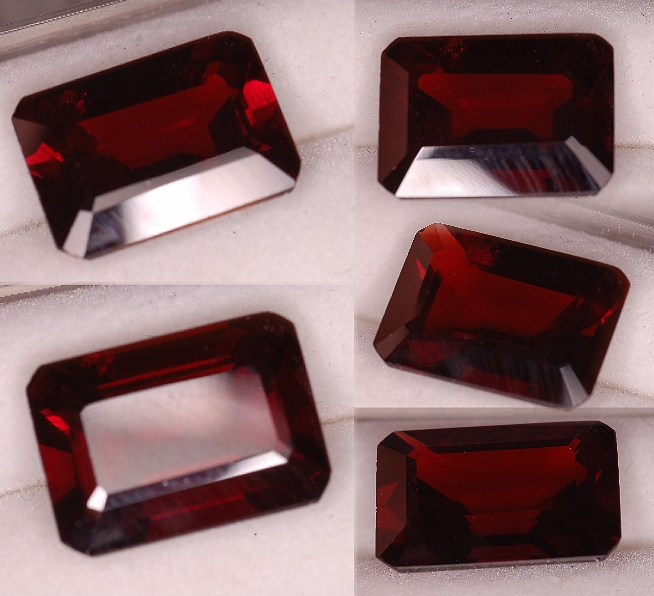 14x10mm, Almandine Garnet-Red-emerald