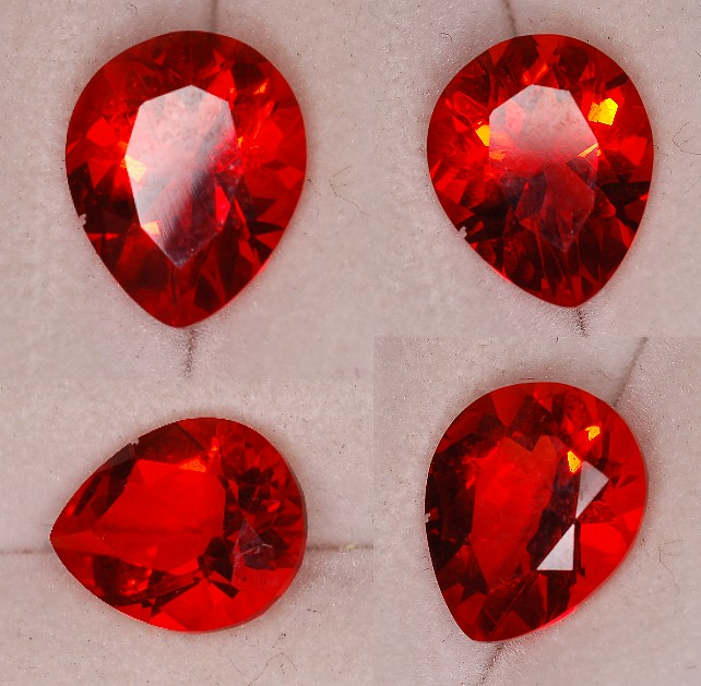 10x8mm, Red Helenite-pear