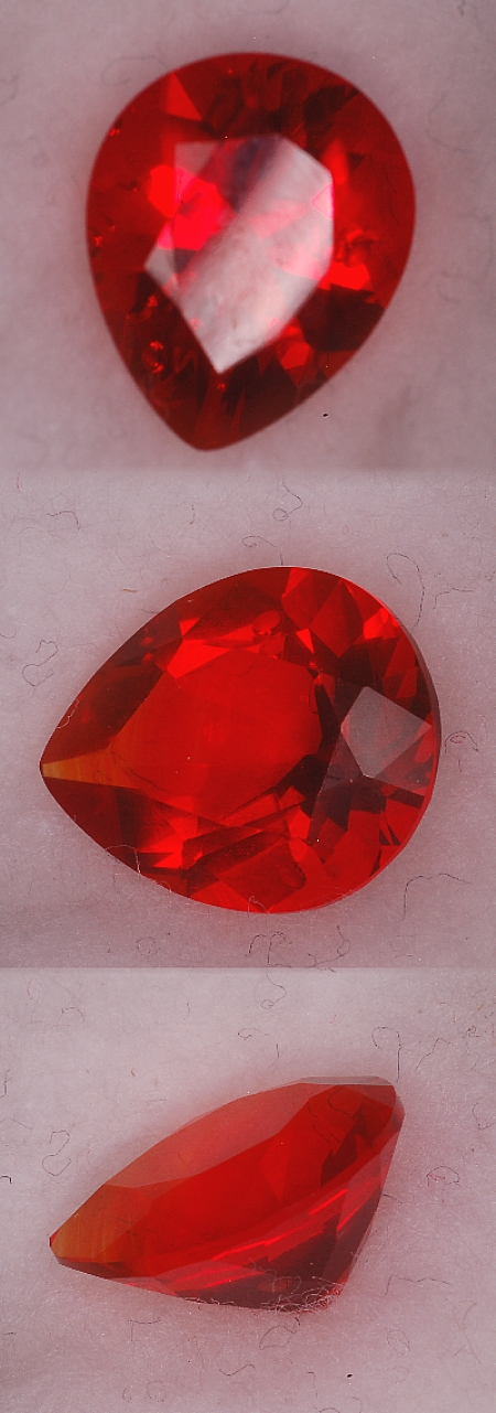 11x9mm, Red Helenite-pear