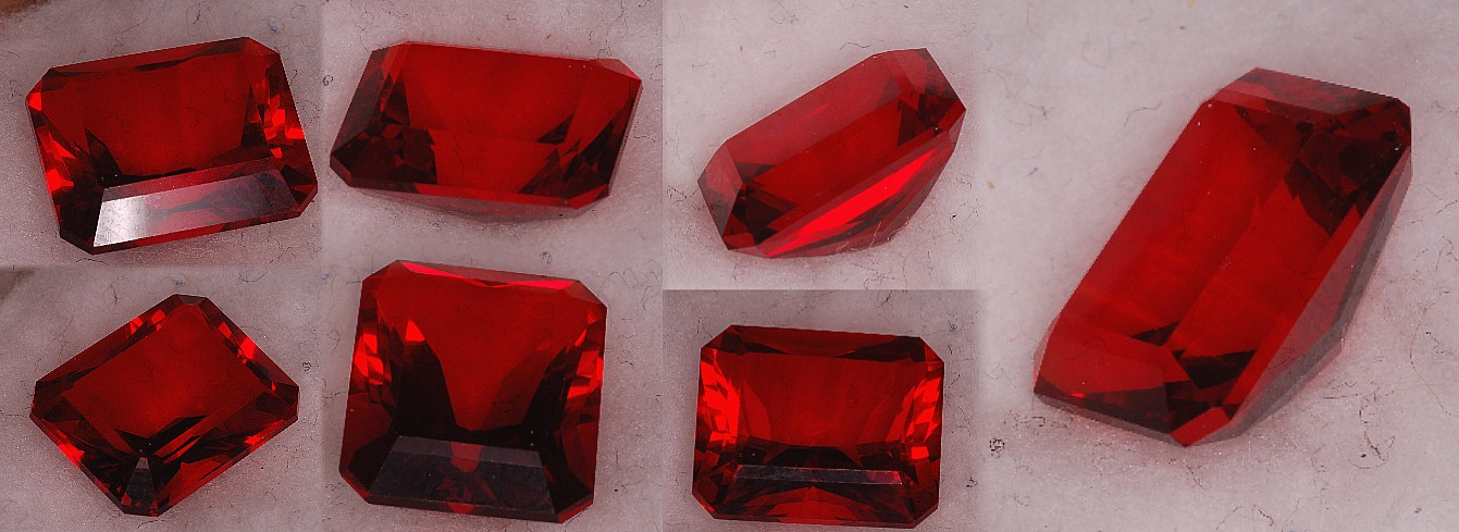 12x10mm, Red Helenite-Emerald