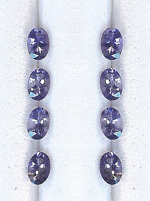 6x4mm, Blue Iolite-oval