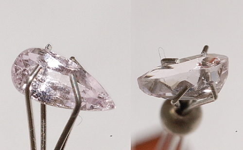 7x3mm, Pink Kunzite-pear