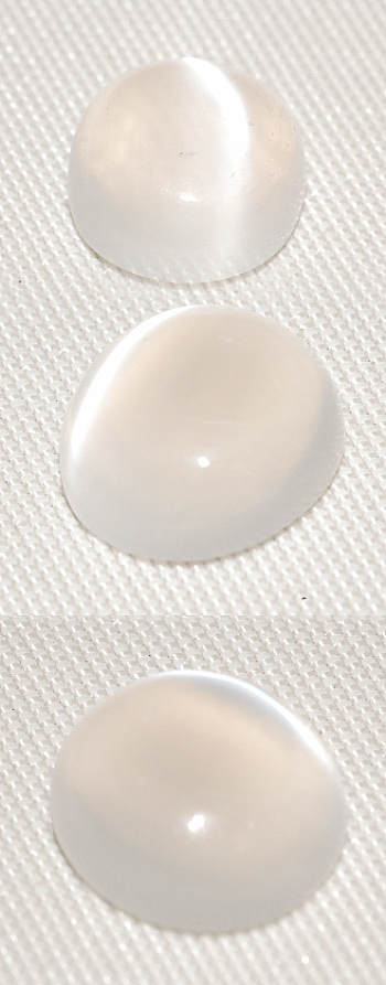 7.75 mm, Clear White Moonstone-round-cab
