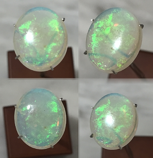 14x12mm, Mult Color Opal-Oval-Cab