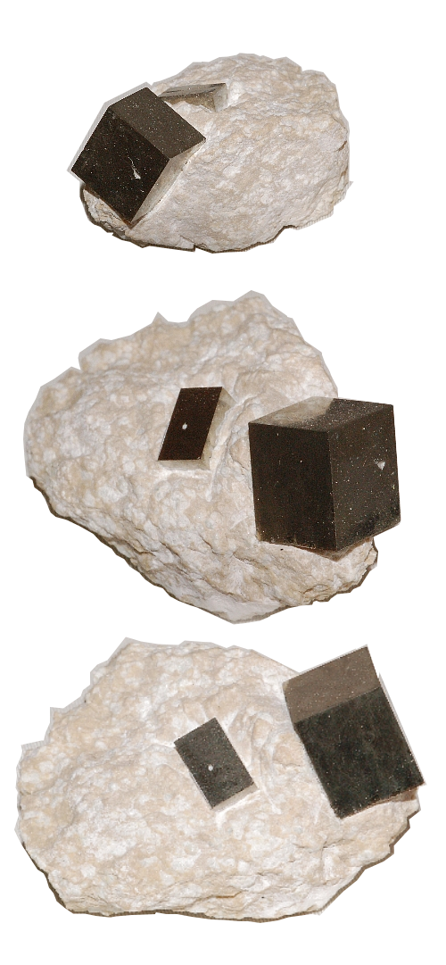 Pyrite 2 Cube Speciment on Stone Base