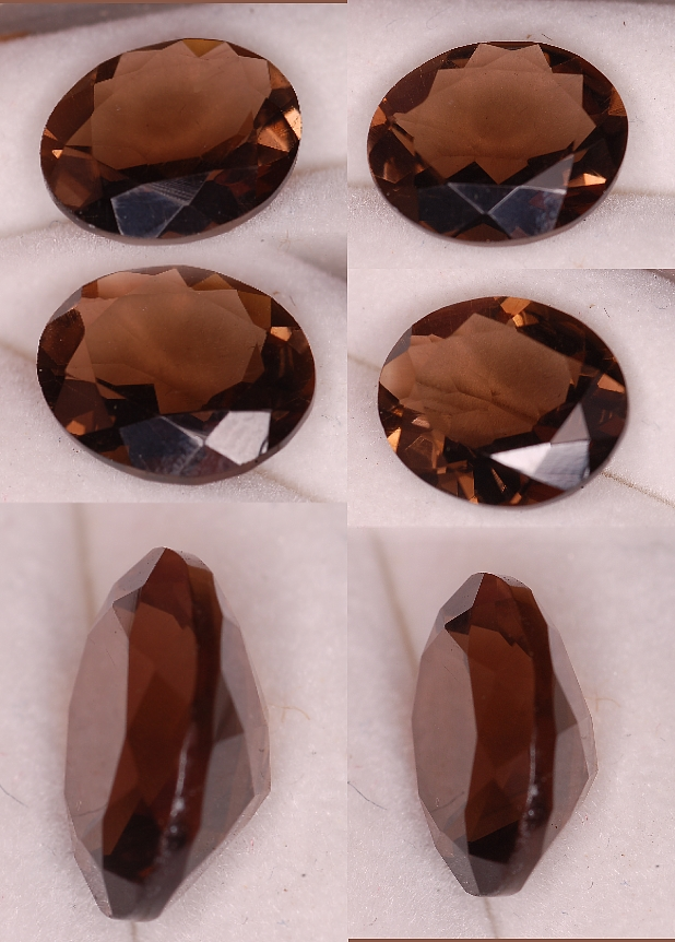 12x10mm, Smokey Quartz-oval