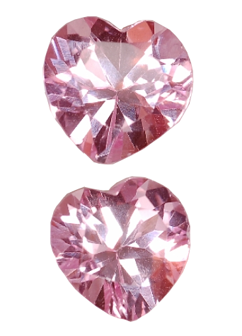 6 mm, Pink Sapphire-Lab-heart